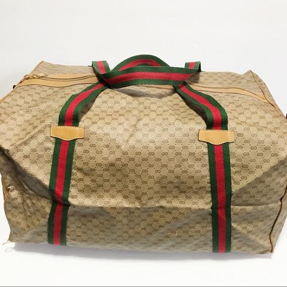 03de3769c01afe Gucci Bags | Authentic Vintage Foldable Duffle Bag | Poshmark
